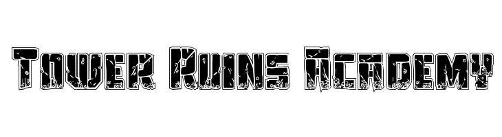 Tower Ruins Academy  Скачать бесплатные шрифты
