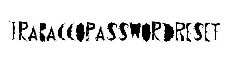 TrabaccoPasswordReset Schriftart