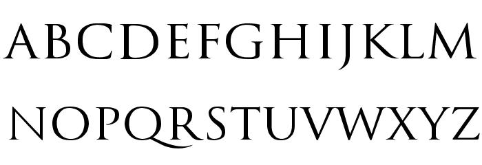 Trajanus Roman Font LOWERCASE