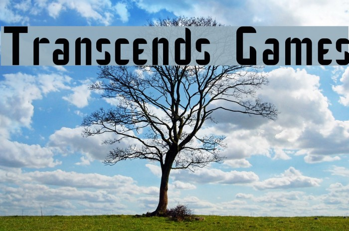 Transcends Games Font examples