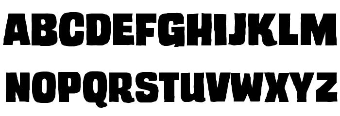 TrashCinema BB Font Litere mari