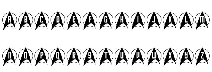 Trek Arrowcaps Шрифта ВЕРХНИЙ