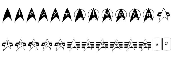 TrekArrowheads Font UPPERCASE