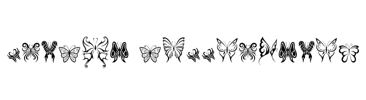 Tribal Butterflies  baixar fontes gratis