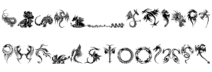 tribal dragons tattoo designs font. Black Bedroom Furniture Sets. Home Design Ideas