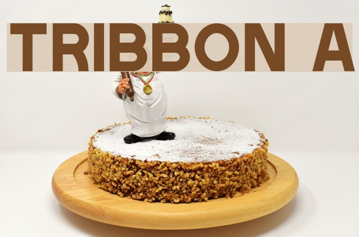 Tribbon A Font examples