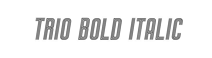 Trio Bold Italic Font