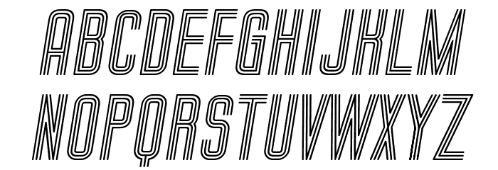 Trio Bold Italic Font UPPERCASE