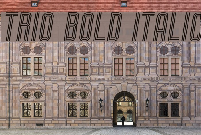 Trio Bold Italic Font examples