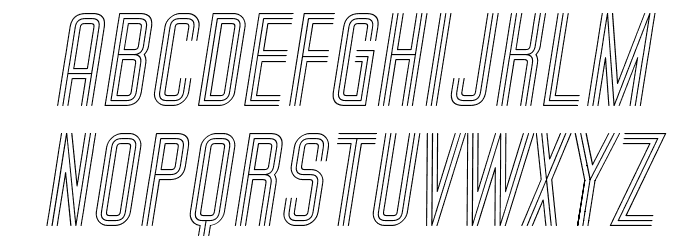 Trio Italic Font UPPERCASE