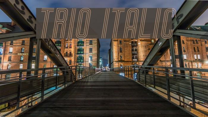 Trio Italic Font examples