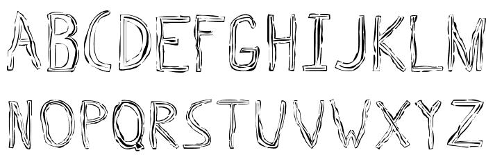 Triple Bypass Regular 字体 大写