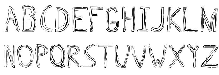Triple Bypass Regular 字体 小写