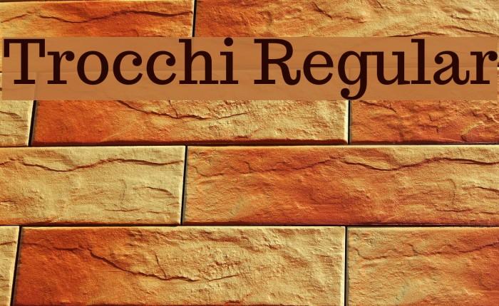 Trocchi Regular Font examples