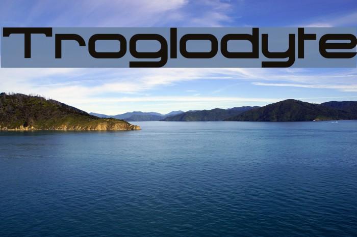 Troglodyte Font examples