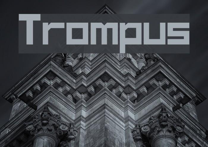 Trompus Font examples