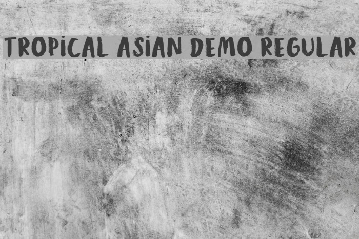 Tropical Asian DEMO Regular Polices examples