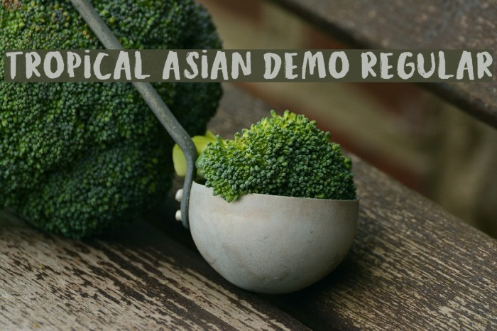 Tropical Asian DEMO Regular Шрифта examples