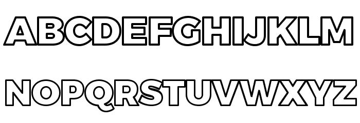 black outline font