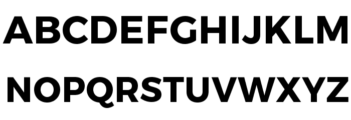 Trueno Bold Font UPPERCASE