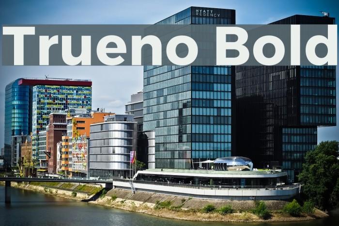 Trueno Bold Font examples