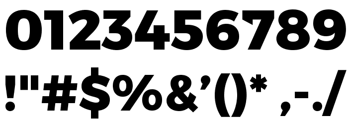 Trueno ExtraBold Font OTHER CHARS