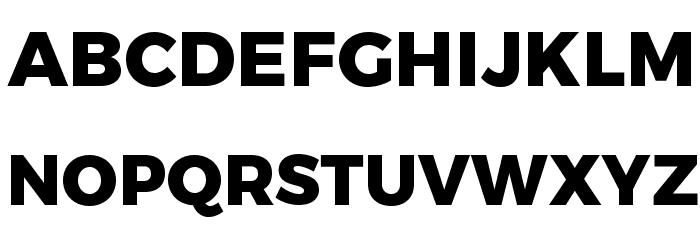 Trueno ExtraBold Font UPPERCASE
