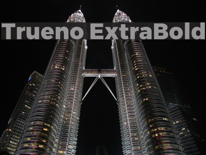 Trueno ExtraBold Font examples