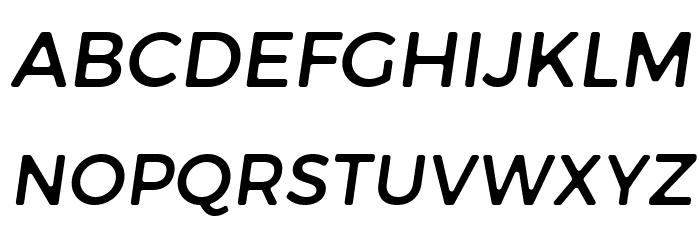 Trueno Round Italic फ़ॉन्ट अपरकेस