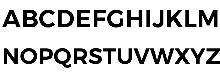 Trueno SemiBold Font UPPERCASE