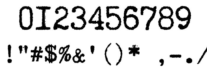 Truetypewriter PolyglOTT Font OTHER CHARS