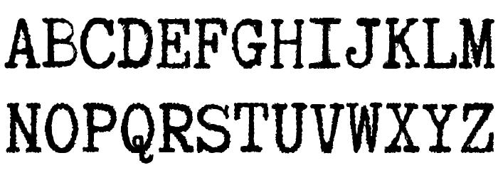 Truetypewriter PolyglOTT Font UPPERCASE