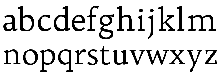 Trykker Regular Font LOWERCASE