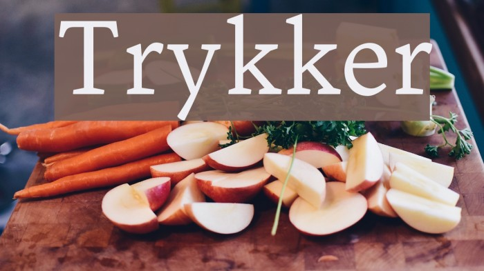 Trykker Font examples