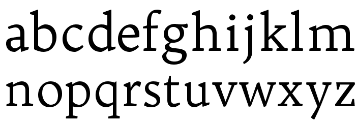 Trykker Font LOWERCASE