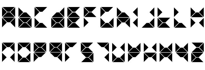 triangule Font UPPERCASE