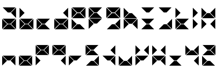 triangule Font LOWERCASE