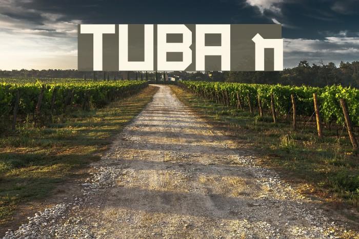 TUBA n Font examples