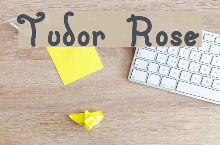 Tudor Rose Font examples