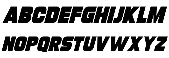 Turnaround Italic Font Litere mari