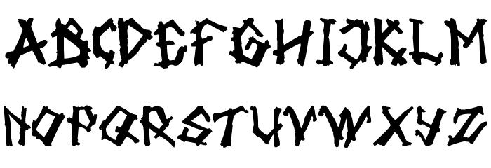 tulisan tanganku Font UPPERCASE