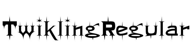 Twikling Regular  Free Fonts Download