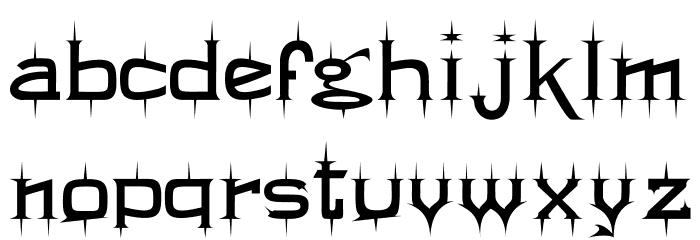 Twikling Regular Font LOWERCASE
