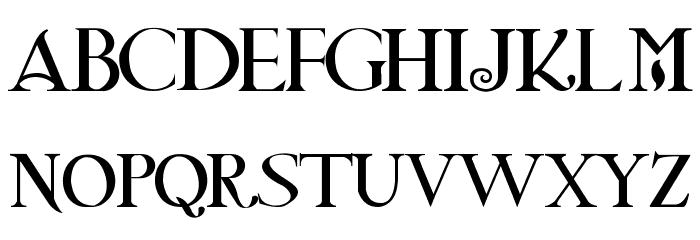 Twilight NewMoon Font UPPERCASE