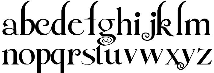 Twilight NewMoon Font LOWERCASE