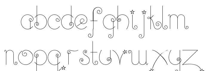 Twinkle-Fairy Font LOWERCASE