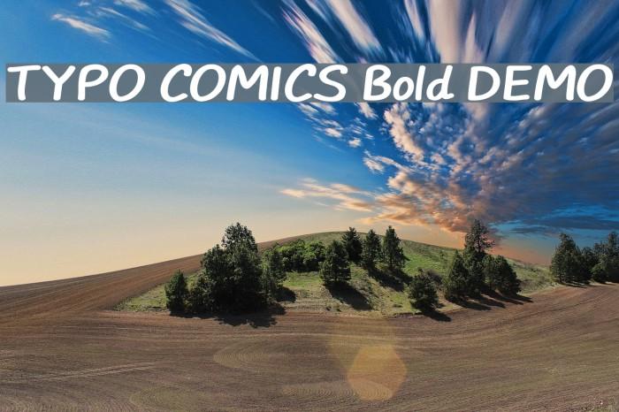 TYPO COMICS Bold DEMO Шрифта examples