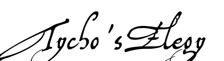 Tycho'sElegy  Free Fonts Download