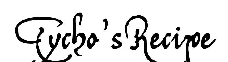 Tycho'sRecipe  フリーフォントのダウンロード
