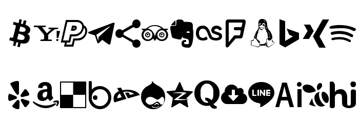 Type Icons フォント 大文字